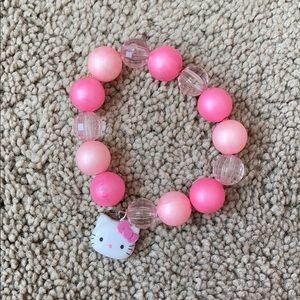 🍄sanrio hello kitty pink beaded bracelet